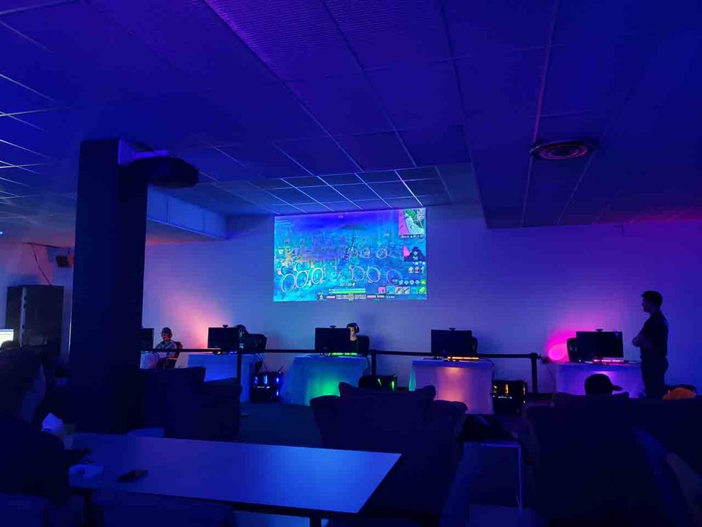 esports arena at enter the bunker near truro